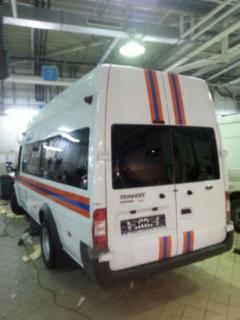 Ford Transit - брендирование микроавтобуса МЧС России