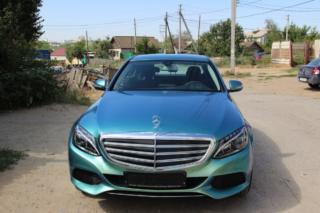 Mercedes c180 - оклейка в сине-зелёный хамелеон от Hexis