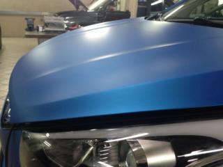 Hyundai IX 35 - полная оклейка в матовый хром ARLON (Blue Aluminium)