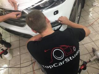 Hyundai Tucson - антигравийная защита передней части автомобиля