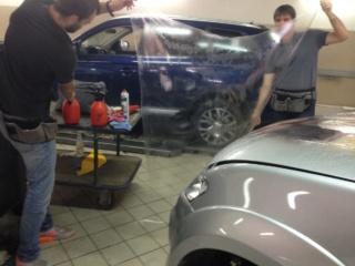 Mitsubishi Pajero Sport - антигравийное покрытие капота