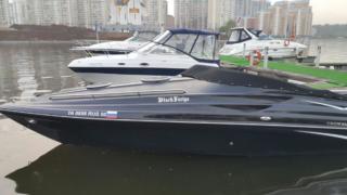 Брендирование и нанесение номеров на яхту «Black Furiya»