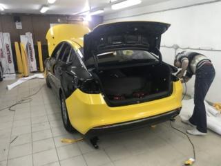 KIA OPTIMA - оклейка желтой пленкой для такси